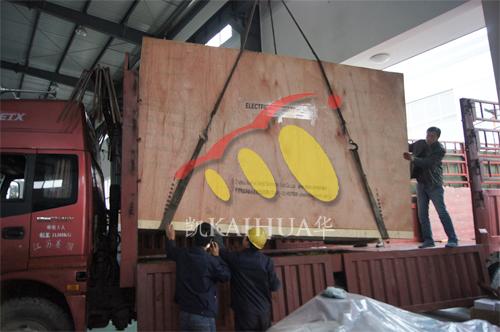 出口坦桑尼亚2台500KW康明斯机组今日成功出厂 发货现场 第2张