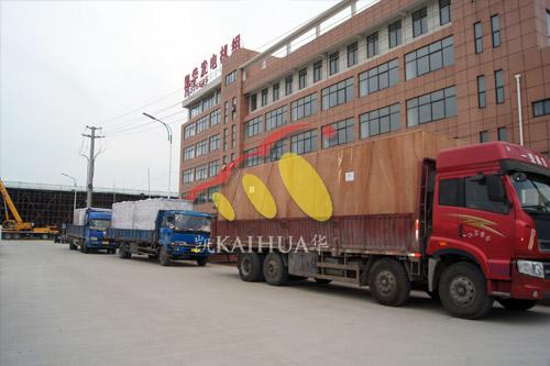 出口赞比亚的六台柴油发电机组成功出厂 发货现场 第3张