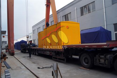 沈阳市政两台500KW防雨型发电机组成功出厂 发货现场 第1张