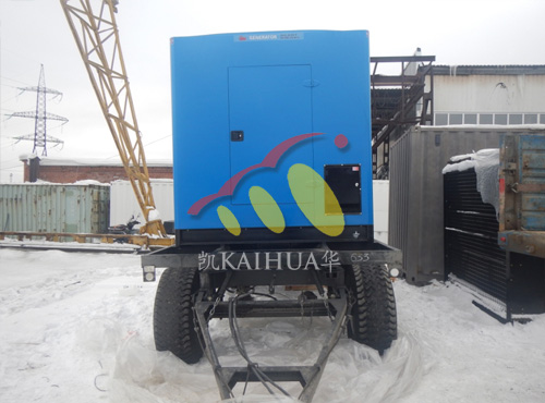 俄罗斯客户500KW保温型发电机组使用现场 公司新闻 第2张