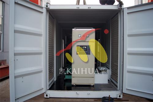 江苏中石化1台1000KW康明斯集装箱式发电机组今日成功出厂 发货现场 第2张