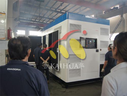 今日东南亚客户来工厂验收2台800KW康明斯机组 公司新闻 第3张