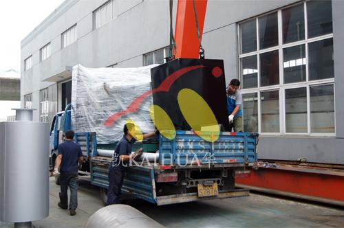 江西建筑公司1台800KW无动发电机组今日成功出厂 发货现场 第2张
