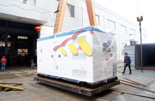 出口安哥拉的两台康明斯发电机组成功出厂 发货现场 第2张