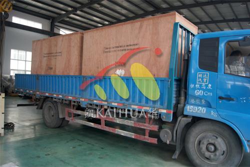江苏金属制品公司2台250KW沃尔沃发电机组今日成功出厂 发货现场 第4张