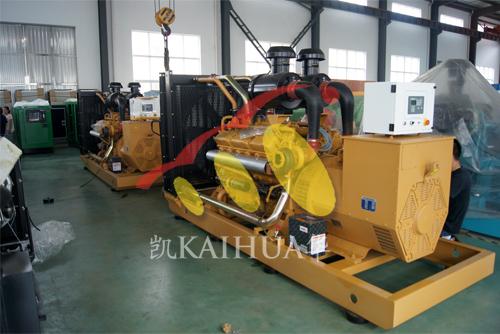 湖南房地产2台400KW上柴机组今日成功出厂 发货现场 第1张