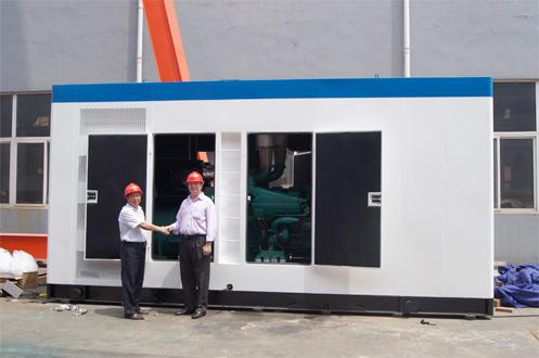 出口阿尔及利亚1台1000KW康明斯静音机组成功出厂 发货现场 第2张
