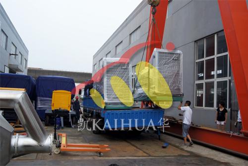 浙江房地产3台400KW沃尔沃并机机组今日成功出厂 发货现场 第2张