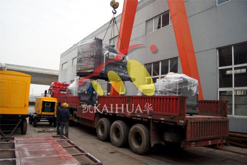长沙酒店2台500KW上柴发电机组今日成功出厂 发货现场 第3张
