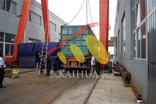 哈萨克斯坦燃气机组今日成功出厂 发货现场 第4张