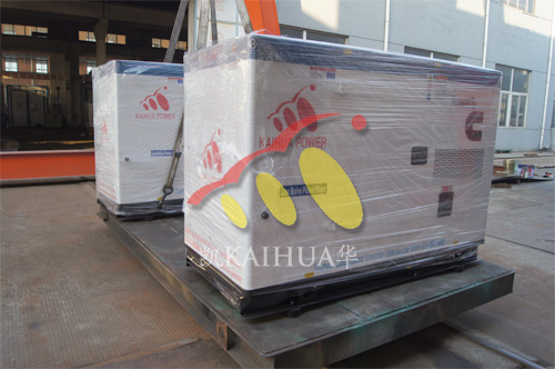 出口泰国2台50KW康明斯静音机组今日成功出厂