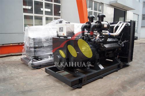长沙酒店2台500KW上柴发电机组今日成功出厂 发货现场 第1张
