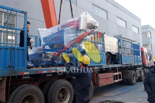 出口安哥拉一批发电机组今日成功出厂 发货现场 第3张