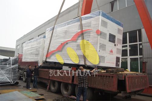出口印度尼西亚2台800KW康明斯ATS静音机组今日成功出厂 发货现场 第2张