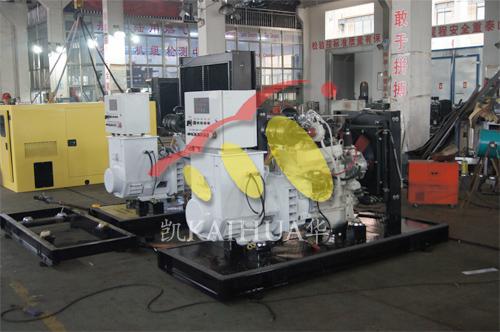 广州海洋工程2台40KW船用应急静音机组今日成功出厂 发货现场 第1张