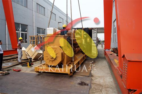 出口加纳1台800KW济柴今日成功出厂 发货现场 第2张