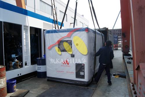 出口尼日利亚的500KW静音发电机组成功出厂