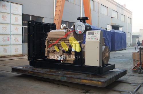 出口新加坡的一台300KW应急船用发电机组成功出厂 发货现场 第1张
