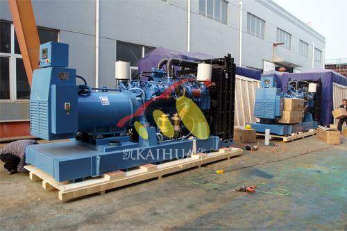 出口赞比亚的六台柴油发电机组成功出厂 发货现场 第1张