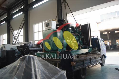昆山房地产1台500KW康明斯今日成功出厂 发货现场 第2张