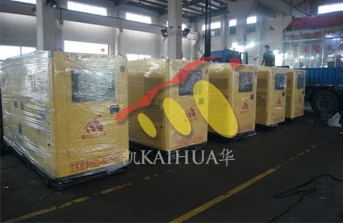 安徽亳州自来水公司5台沃尔沃静音机组今日成功出厂 发货现场 第1张