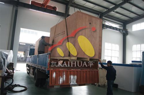 江苏金属制品公司2台250KW沃尔沃发电机组今日成功出厂 发货现场 第3张