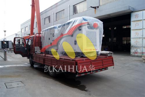 上海起重设备2台50KW康明斯防雨罩机组今日成功出厂 发货现场 第3张