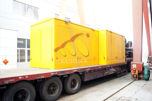 沈阳市政两台500KW防雨型发电机组成功出厂 发货现场 第2张