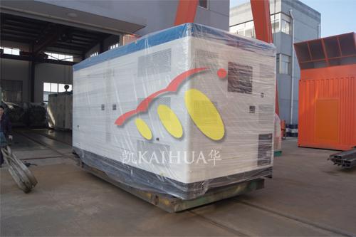 出口哈萨克斯坦2台康明斯发电机组今日成功出厂 发货现场 第1张