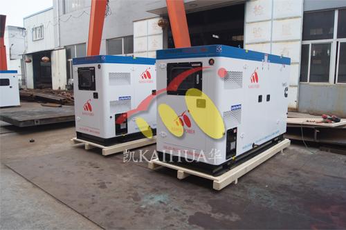 出口乌克兰2台100KW康明斯静音机组今日成功出厂 发货现场 第1张