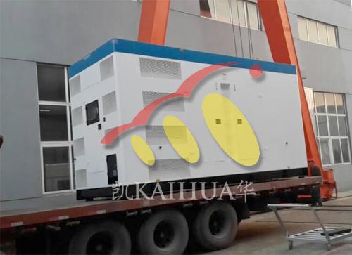 河北酒店800KW无动静音发电机组成功出厂 发货现场 第2张