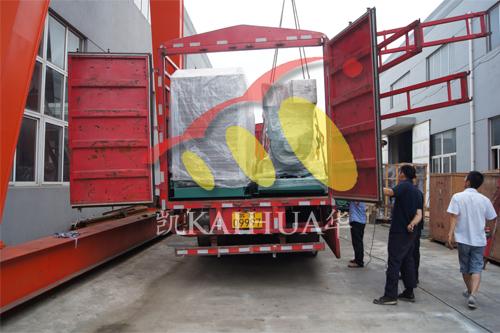 浙江商用汽车公司2台400KW沃尔沃并机机组今日成功出厂 发货现场 第3张