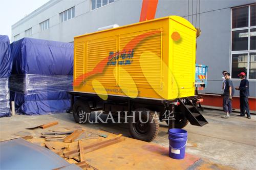 山西矿业1台1KV高压移动式机组今日成功出厂