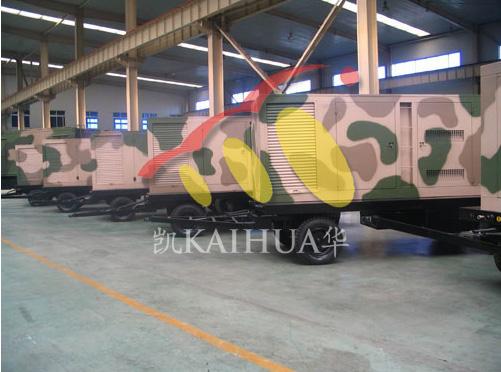 南京某军区采购多台移动静音型发电机组成功交付 国内案例