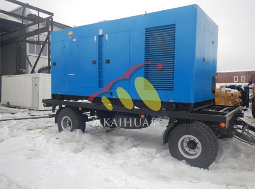 俄罗斯客户500KW保温型发电机组使用现场