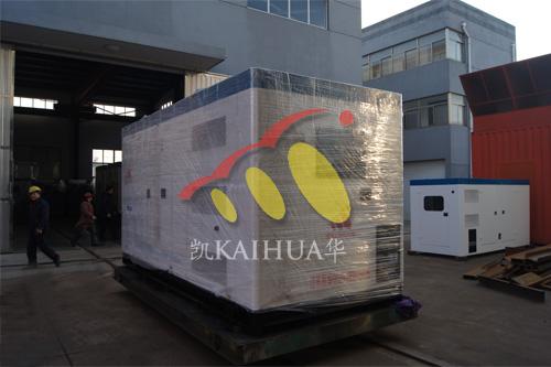 宜昌电气公司2台500KW康明斯机组今日成功出厂 发货现场 第1张