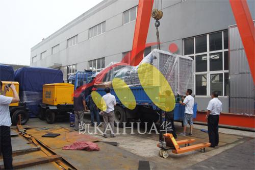 浙江房地产3台400KW沃尔沃并机机组今日成功出厂 发货现场 第3张