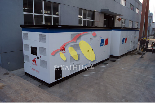 青海公路两台1200KW奔驰发电机组成功出厂