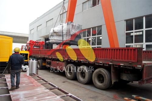 长沙酒店2台500KW上柴发电机组今日成功出厂 发货现场 第2张