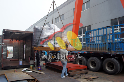 河北廊坊1台500KW上柴ATS发电机组今日成功出厂 发货现场 第2张