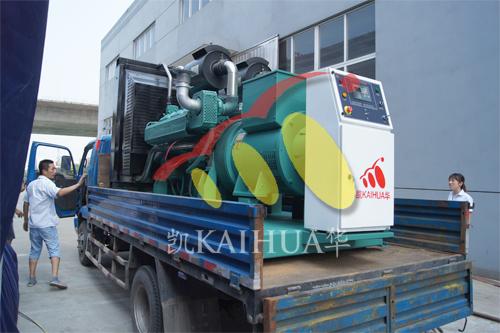 上海钢结构1台500KW无动成功出厂 发货现场 第2张
