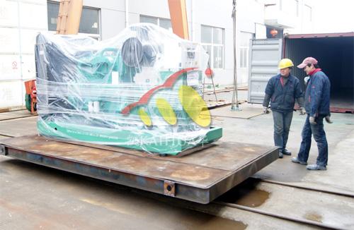 出口安哥拉的两台康明斯发电机组成功出厂 发货现场 第1张