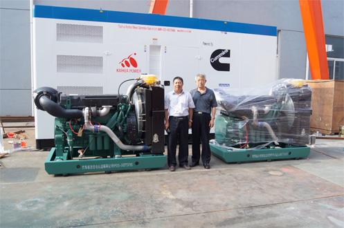河北廊坊机械公司200KW工程机械机组今日成功出厂 发货现场 第1张
