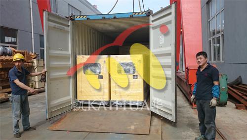 出口非洲一批静音发电机组今日成功出厂 发货现场 第3张