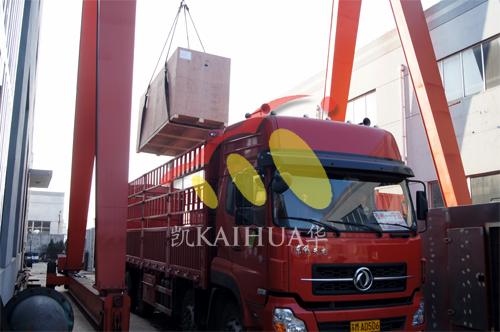 出口伊朗2台200KW康明斯静音机组今日成功出厂 发货现场 第3张