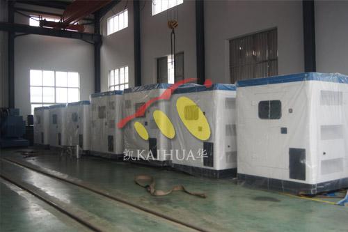 出口赞比亚的六台柴油发电机组成功出厂 发货现场 第2张