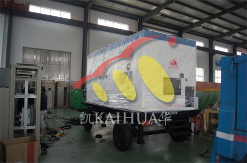 甘肃制冷空调1台500KW康明斯移动静音机组今日成功出厂 发货现场 第1张