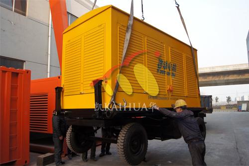 山西龙海集团1台500KW康明斯移动式机组今日成功出厂 发货现场 第1张
