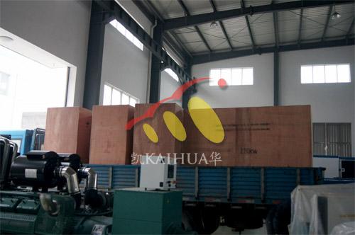 内蒙古赤峰2台220KW沃尔沃并机机组今日成功出厂 发货现场 第3张