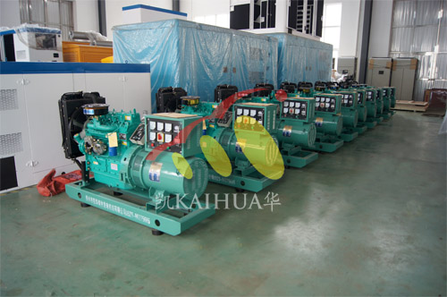 安徽农机公司10台潍柴发电机组今日成功出厂